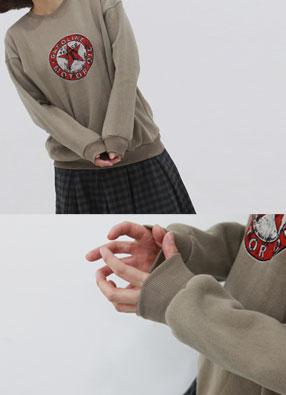 스타워싱 기모 맨투맨티셔츠